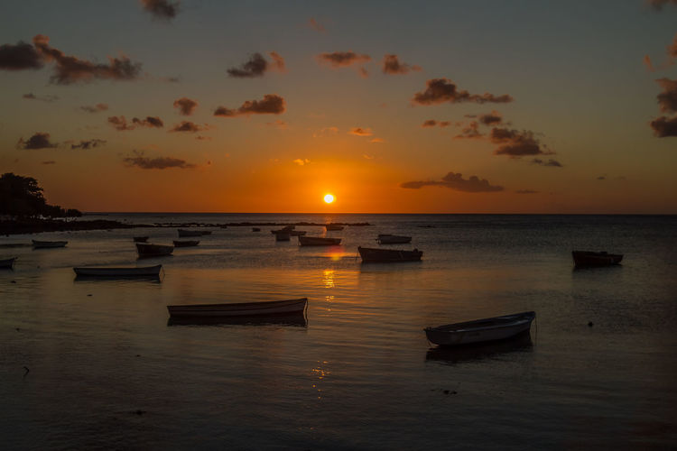 Sunset on Trou aux Biches in Mauritius Beauty In Nature Eye4photography  EyeEm Best Shots EyeEm Nature Lover Hello World Hi! Horizon Over Water Idyllic Mauritius Mauritius <3 Mauritius Island  Nature No People Ocean Orange Color Outdoors Romantic Scenics Sun Sunset Tranquil Scene Travel Travel Photography Trou Aux Biches Water