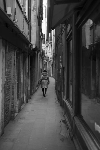Adult Architecture City Italy One Person Rear View Streetphotography The Way Forward Venice Walking