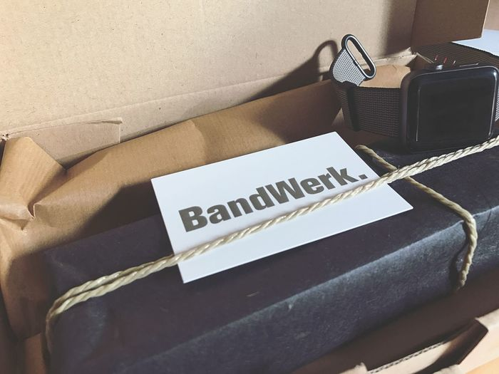 Thanks to Bandwerk for a new Apple Watch bracelet. Bandwerk Bracelet Apple Applewatch Applewatchband Paket Packen Technology Indoors  Communication No People