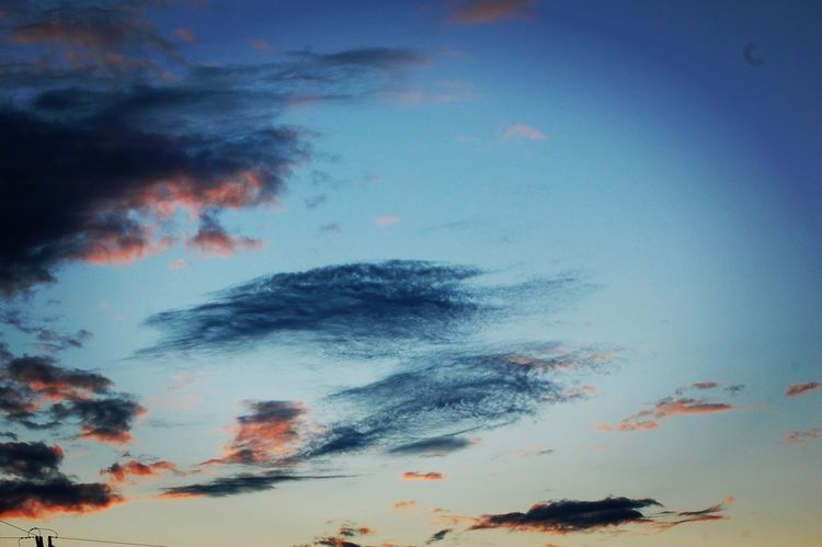 widok Sunset Sky Cloud - Sky Silhouette Blue No People Low Angle View Backgrounds Outdoors Nature Day Love Photographer Scenics EyeEm Nature Lover Taking Photos Poland Nikon_photography_ Nikond40 Check This Out Landscape