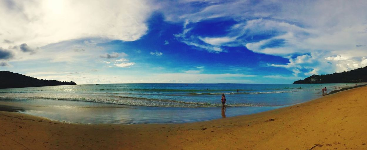 beach, blue sky, sun, thailand, holiday, good time, water, sea, view, landscape, nature