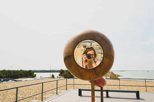 EyeEm Selects Mirror Mirror Reflection Selfie Portrait Mirrorselfie Real People People Watching People And Places Photography Taking Photos Horizon Over Water Outdoors The Week On EyeEm Street Streetphoto Adults Only Urban Perspectives Summer Exploratorium Visual Creativity #urbanana: The Urban Playground