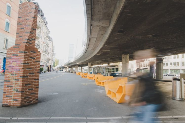 EyeEm Selects Architecture Transportation Built Structure Blurred Motion Road Motion Day City Outdoors No People Art Colors Yellow Adventures In The City