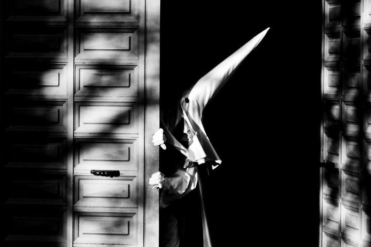Church SPAIN Semana Santa Blackandwhite Door Easter Week One Person People Real People Shadows Streetphotography EyeEmNewHere