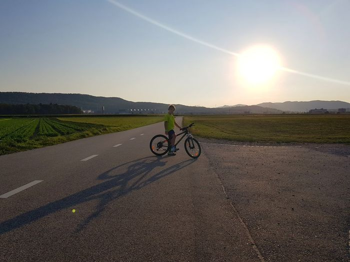 Rural Scene Full Length Bicycle Agriculture Field Cycling Road Sky Landscape Riding Mountain Road Countryside Mountain Bike Streaming A New Beginning