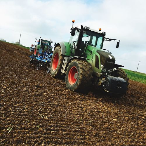 Tracteur Tractor Fendt Lemken Harvest Seed Seeds Cultivated Land Cultivator Punch North France