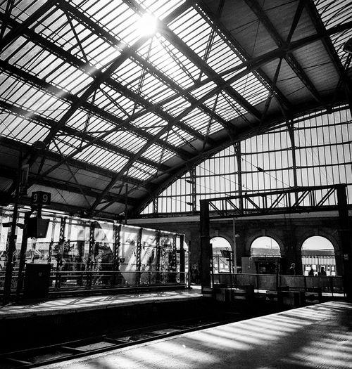 Platform Of Train Station Platform 8 Liverpool Lime Street Station Black & White Blackandwhite Black And White Photography