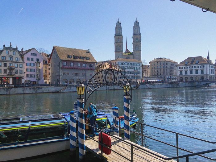Zurich Travel Destinations Nature Tourism Day Tall - High Tower Travel River Cityscape Outdoors No People Office Building Exterior Clear Sky