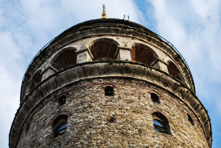 Galata Tower Arch Architectural Feature Architecture Archway Built Structure Ceiling Church Column Galata Tower History Indoors  Low Angle View Old Place Of Worship Religion Tower