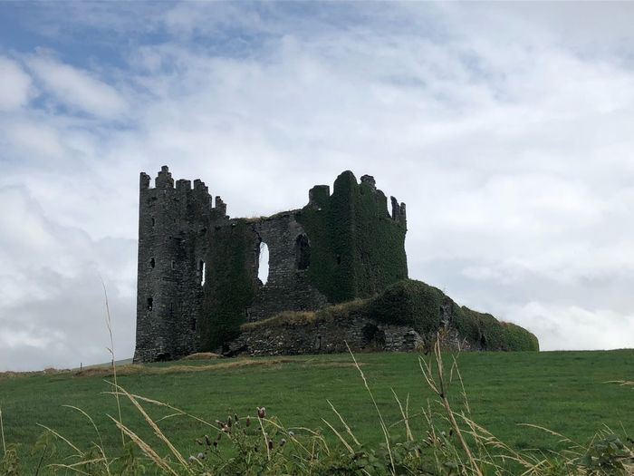 Ballycarbery Castle Private Property Ireland🍀 Sky Cloud - Sky Land Architecture Plant Field Grass Old Ruin Building Exterior Green Color Castle Day History The Past