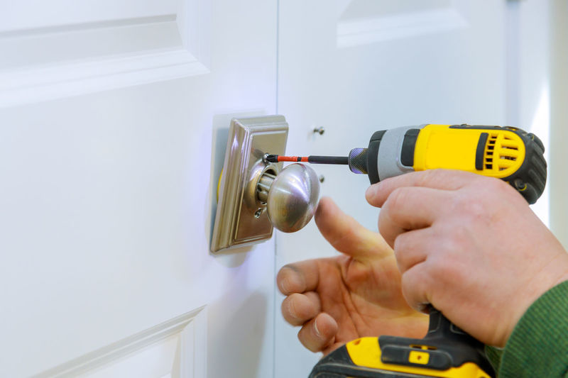 Handyman using