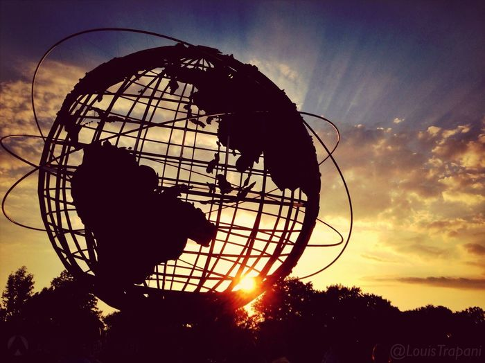 On a Photowalk at the NY World's Fair site. Taking Photos of the Unisphere, the last time I did, it was 30 years ago.