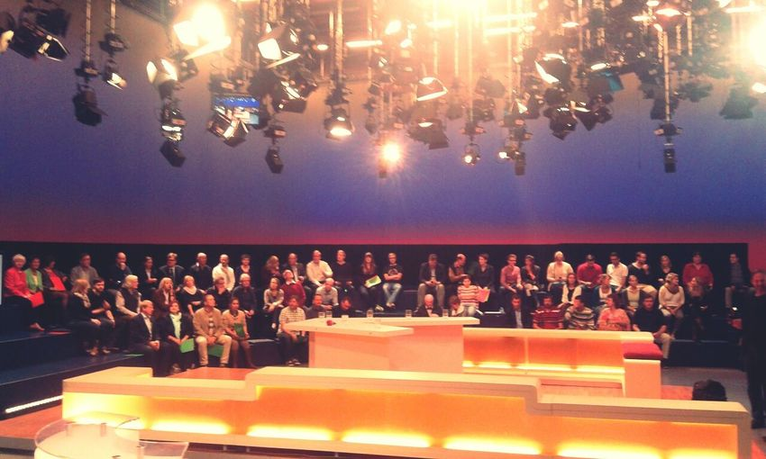TV Studio Waiting For The Show