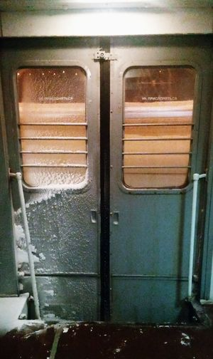 Transportation Door Window Train - Vehicle No People Old Cold Temperature Train Winter Ride Carriage Silence Rzd Russia Smartphonephotography