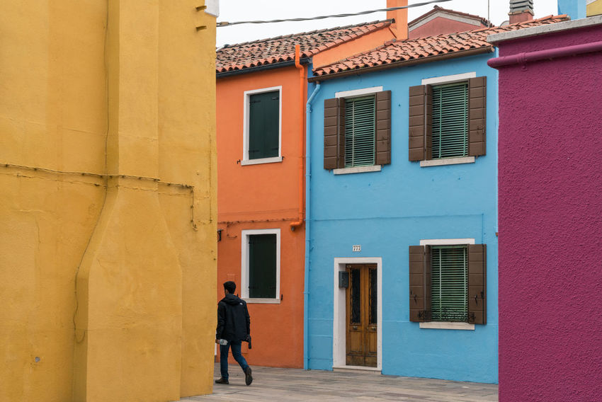 Architecture Burano, Venice Colors Italia Travel Travel Photography Venezia Venezia, Italia Venice, Italy Architecture Building Exterior Built Structure Burano Color Colorful Day Full Length Italy One Person Outdoors Photography Real People Streetscape Venice Window