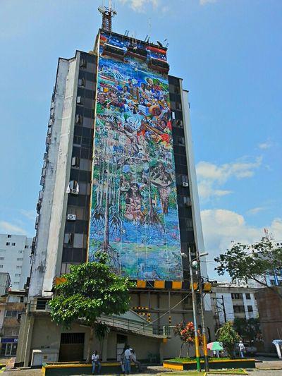 mural en la Administración Distrital...
