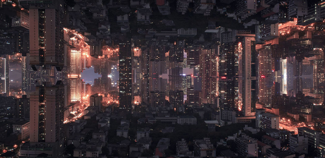 Inception Architecture Building Exterior City Cityscape Illuminated Night No People Outdoors