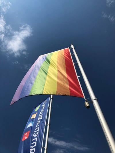 Happy Prideweek Hamburg 🏳️🌈🏳️🌈 Regenbogen Raindbow Prideweekend Pride Sky Multi Colored Nature Low Angle View Day Adventure Outdoors