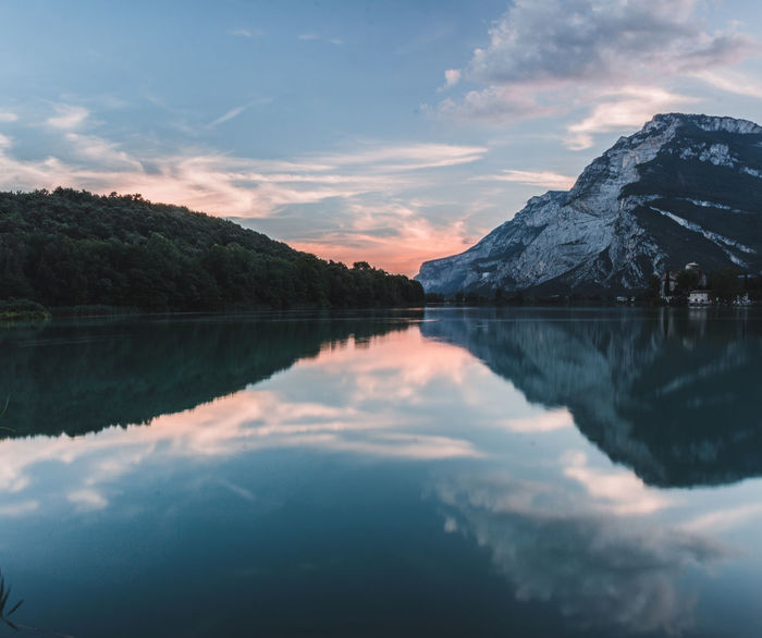 Lake Toblino and its awesome reflections Castle EyeEm Nature Lover EyeEmNewHere Italia National Park Nature Nature Photography Reflection Trentino Alto Adige View Canon_photos Canonphotography Italy Lake Landscape Landscape_photography Mountain Mountainscape Sky Sunset Toblino Vintage Wallpaper Water