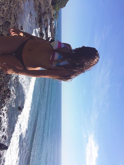 Ocean View Beauty In Nature Water % Bikini Time❤ Tanning ☀ Enjoying The Sun JacoBeach Beauty In Nature Young Women Clear Sky Feeling Thankful