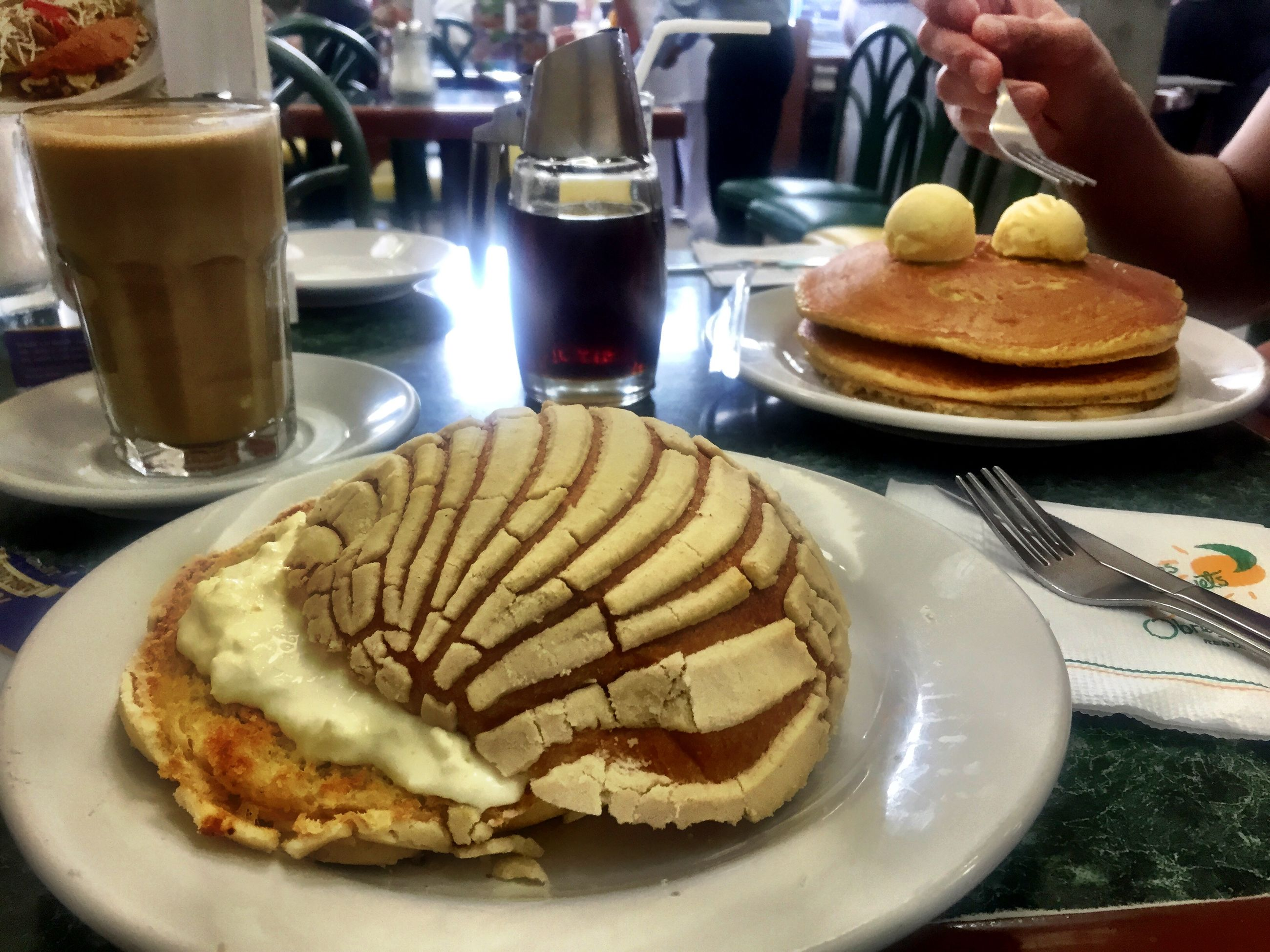 food and drink, food, freshness, indoors, table, plate, ready-to-eat, still life, drink, sweet food, indulgence, healthy eating, refreshment, breakfast, dessert, bread, serving size, coffee - drink, close-up