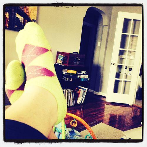 Kicking up my feet with my argyle socks after a long day. Sockblog Socks Thisisme
