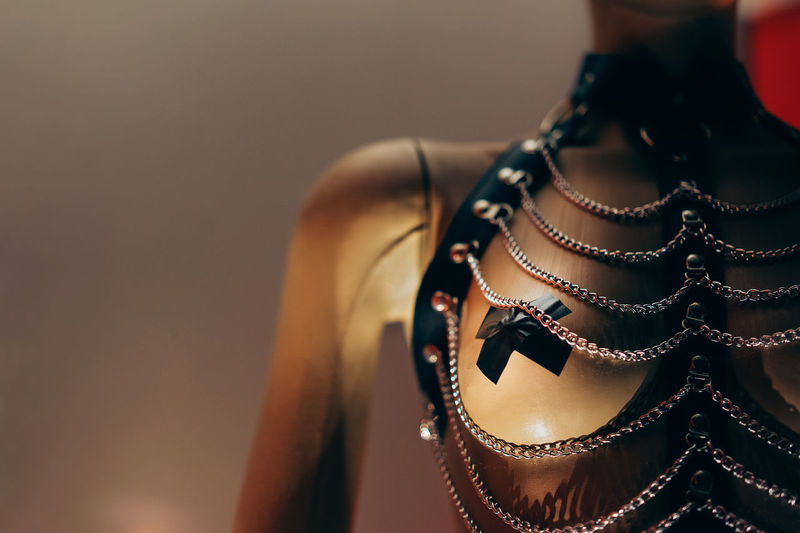 Close Up Of Necklace On Mannequin