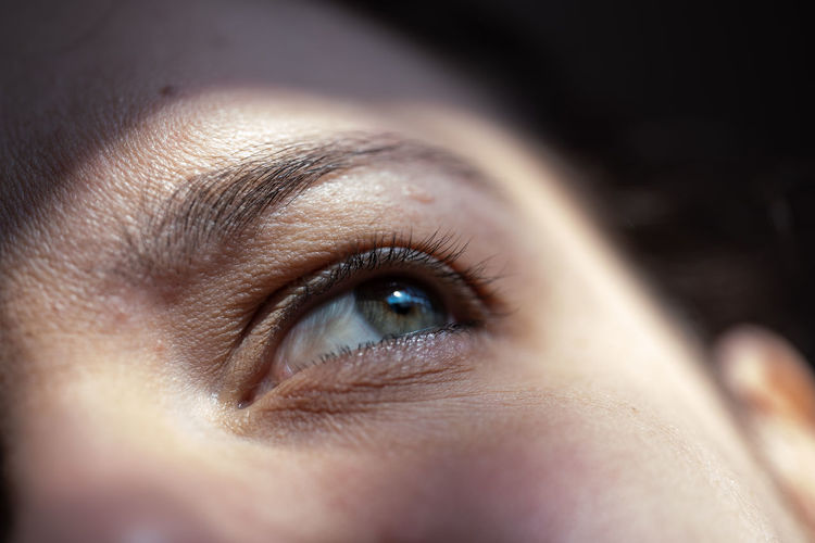 Human Eye Young Women Looking Adult Close-up Women Contemplation Depression - Sadness Looking At View Iris - Eye Watching Eyelash Eyesight Eyebrow Young Adult Eye