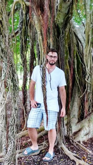 Tree Banyan Tree Standing My Son Vinny Day Adult NaturePortraitphotographer Outdoors Portrait Of A Man  Leisure Activity People Plant Full Length