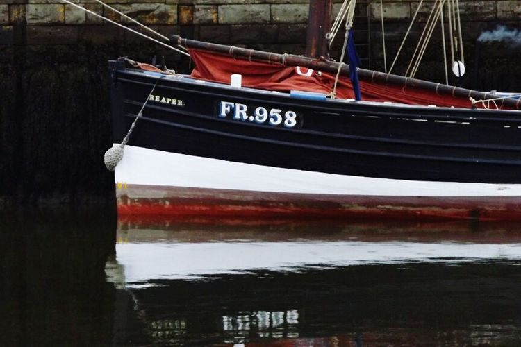 Trawler Reaper Boat Ship Fishing Boat Tayport Harbour Reflection