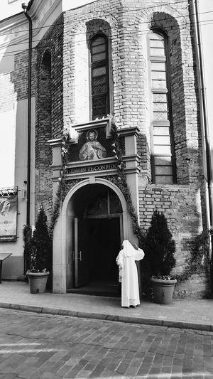 Church in Vilnius,Lithuania. Church Churches Vilnius Lithuania Traveling Nun Travel Blackandwhite Dievo Gailestingumo EyeEm Best Shots Urban Exploration Monochrome Photography