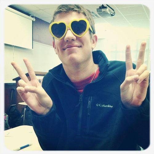 Boy Peace Smile Heart Glasses