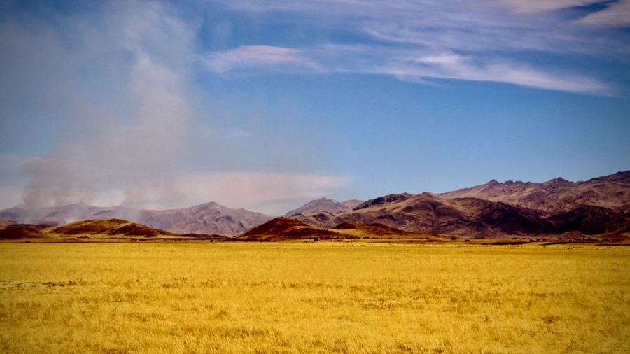 Peru Mountain Environment Scenics - Nature Landscape Sky Land Mountain Range Cloud - Sky Nature No People Beauty In Nature Tranquil Scene Grass Day Tranquility Non-urban Scene Outdoors Field Distant Copy Space Prairie The Traveler - 2019 EyeEm Awards The Great Outdoors - 2019 EyeEm Awards