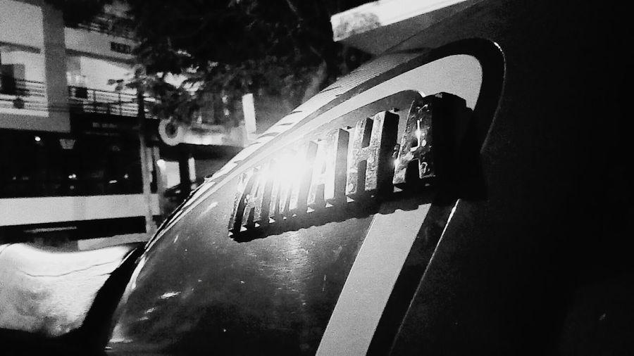 Yamaha Logo Vintage RXG 135cc 2_STROKES YAMAHA CLASSICS Night No People Outdoors Street Light Silence Enjoy The Ride Yamaha Rxg Adapted To The City