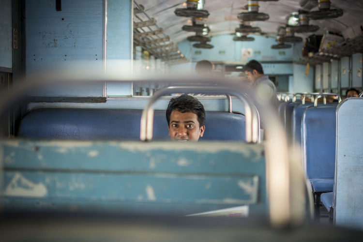 The Portraitist - 2016 EyeEm Awards ... a Man Seated in Journey inside a Train from Jaipur Rajasthan , India My C Feel The Journey Snap a Stranger Traveling Home For The Holidays