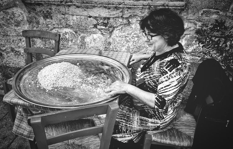 WomeninBusiness Old Lady Traditional Culture Masticha Preparations Tradition Village Life Woman Blackandwhite Blackandwhite Photography Black & White Mastic Trees Unique - Chios Chios Greece Greece