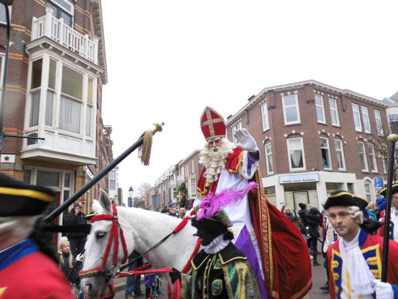 Architecture Bishop Building Exterior Clear Sky Day Dutch Tradition Horse Riding Large Group Of People Low Angle View Outdoors Real People St Nicolas Traditional Zwarte Piet