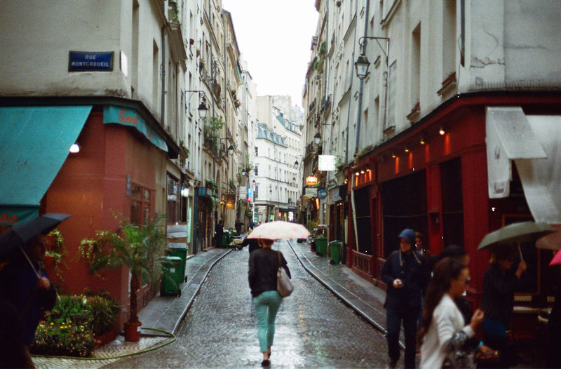 Paris Analogue Photography Filmisnotdead Analog Canon AE-1 Street Umbrella Rain I Love My City The Tourist Paris ❤ Rainy Days Le Marais Filmcamera Europe 35mm Film Streetphotography The Street Photographer - 2016 EyeEm Awards