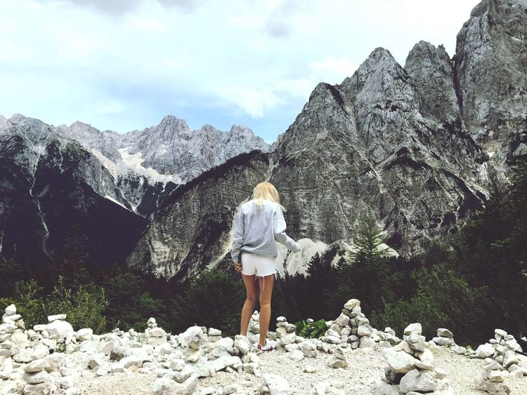 Madness Slovenia Love ♥ Photography Girl Beautiful Real People Leisure Activity One Person Rear View Lifestyles Beauty In Nature Mountain Scenics - Nature Women Nature Tree Sky
