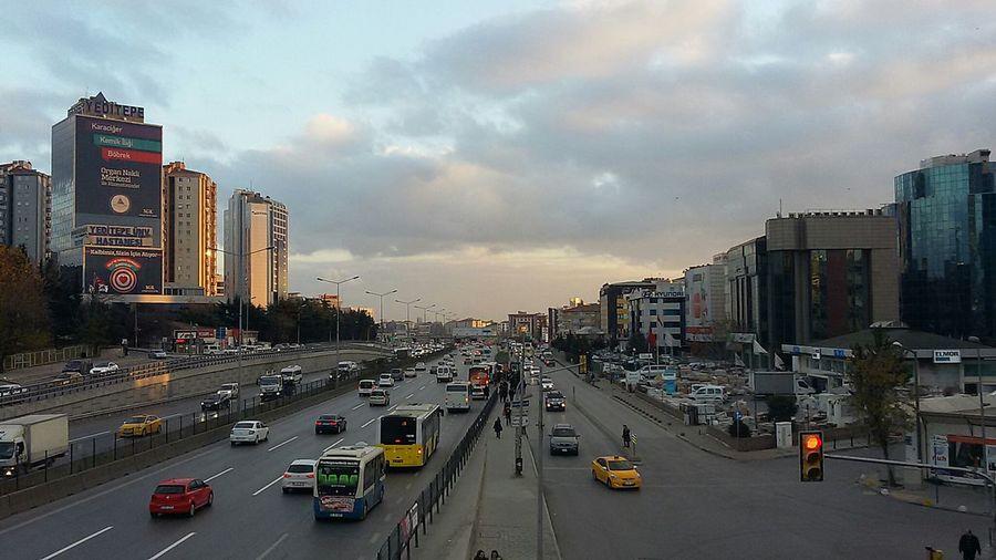 City Life Traffic Urban Skyline Road Traffic Jam Sunset Hallo World Hello World Turkey Istanbul Turkey Mobility In Mega Cities