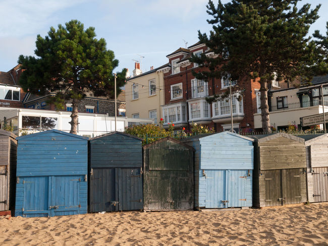 Broadstairs is a coastal town on the Isle of Thanet in the Thanet district of east Kent, England, about 80 miles (130 km) east of London Architecture Beach Huts Broadstairs Building Exterior Built Structure Day Façade No People Outdoors Sky Town Tree