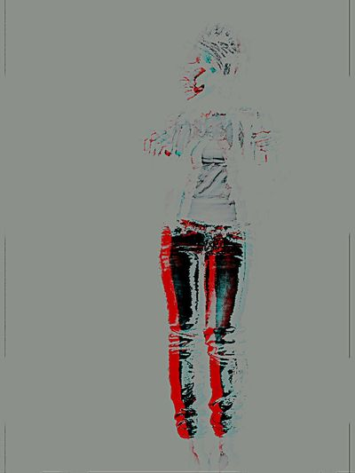 Transparent Whos That Girl? Digital Art Multimedia Portraits Selfportrait