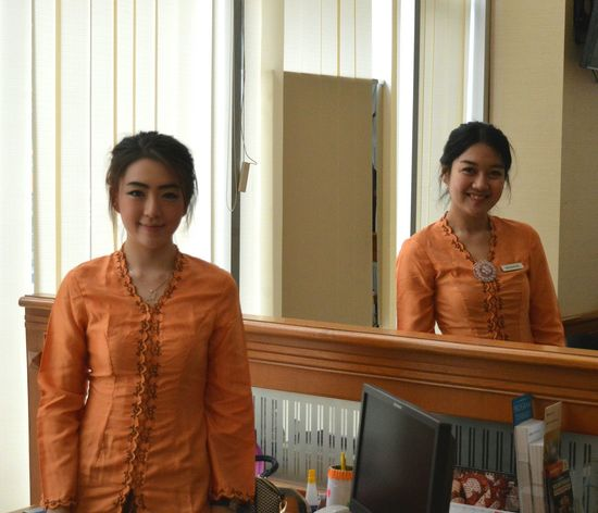 Hari Kartini... Customerservice BankMega Kartini's Day Officelife Portrait We Love Our Customers
