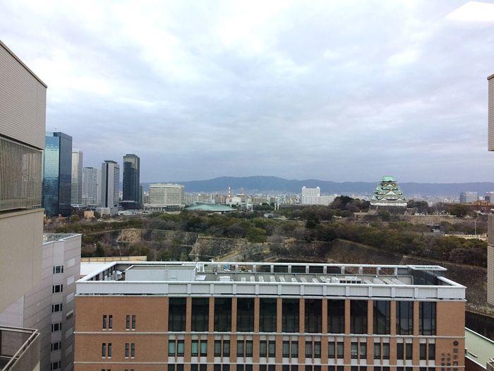 20170208今朝の大阪城🏯 Castle View  OSAKA