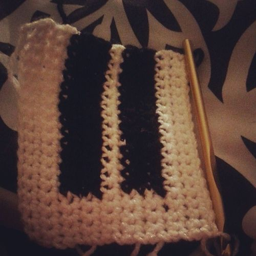 Up crocheting a piano scarf for a customer! I am ready to go to bed lol... Designsbykey Itsjustwhatido Crochetlife Musiclife