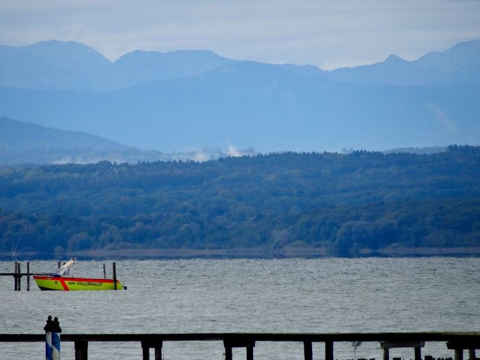 Lake Mountains Ammersee Boat