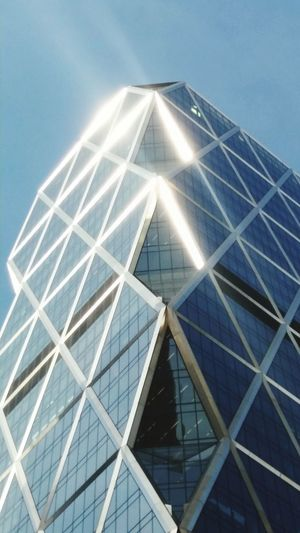 Sunlight on the Hearst Tower, NYC. Architecture Architectural Feature Architecture_collection. Architecture Photography Architectural Architectural Design Triangles Colors And Patterns