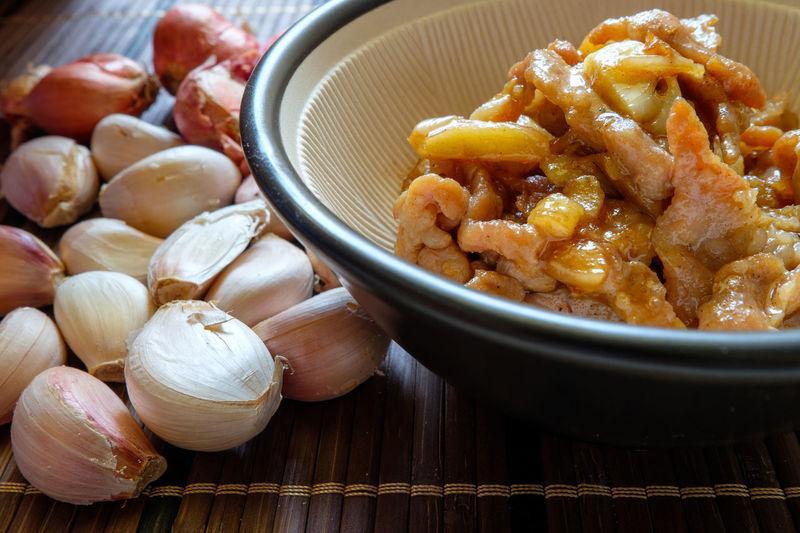 My World Of Food Fried Sliced Pork With Garlic Thai Food