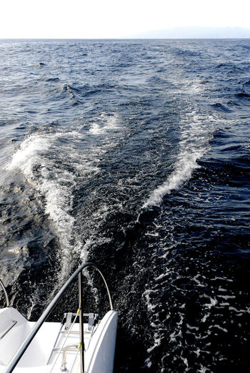 Returning from a whale watching trip. Island of Gommera on the horizon. Atlantic Boat Boat Hull Catamaranboat Day Gomera Horizon Over Water Nautical Vessel No People Ocean Outdoors Sailing Sea Transportation Wake Water Wave