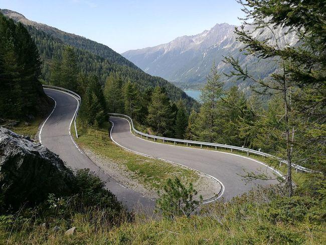 Mountain Winding Road Outdoors Mountain Road